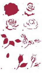 Trafaretas - rožė