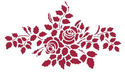 Trafaretas - rožės