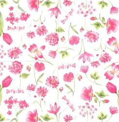 Servetėlė Gėlės rožinės