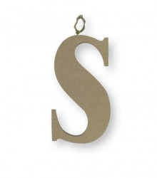Letter S from MDF