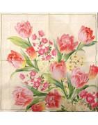 servetėlės - gėlės