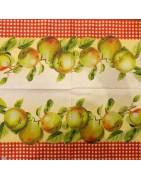 servetėlės - vaisiai, daržovės, uogos